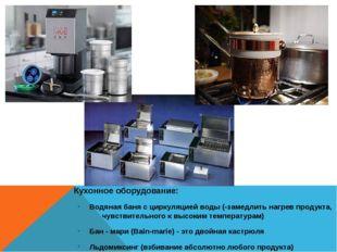 Кухонное оборудование: Кухонное оборудование: Водяная баня с циркуляцией во