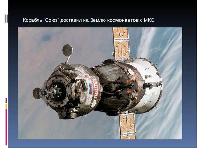"""Корабль """"Союз"""" доставил на Землю космонавтов с МКС."""
