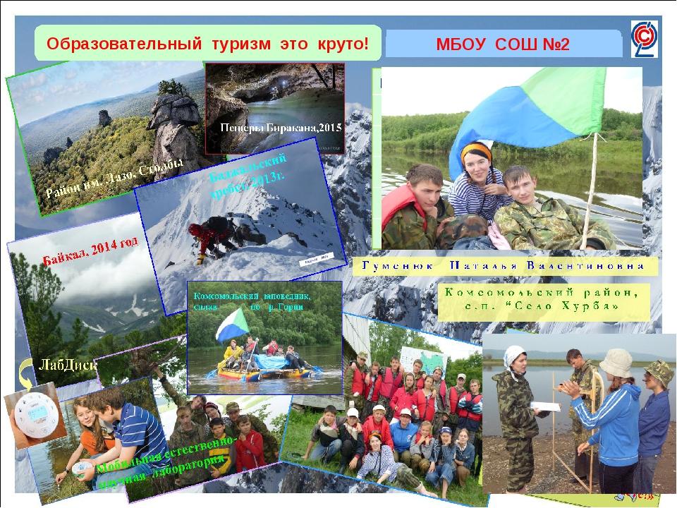МБОУ СОШ №2 Образовательный туризм это круто!