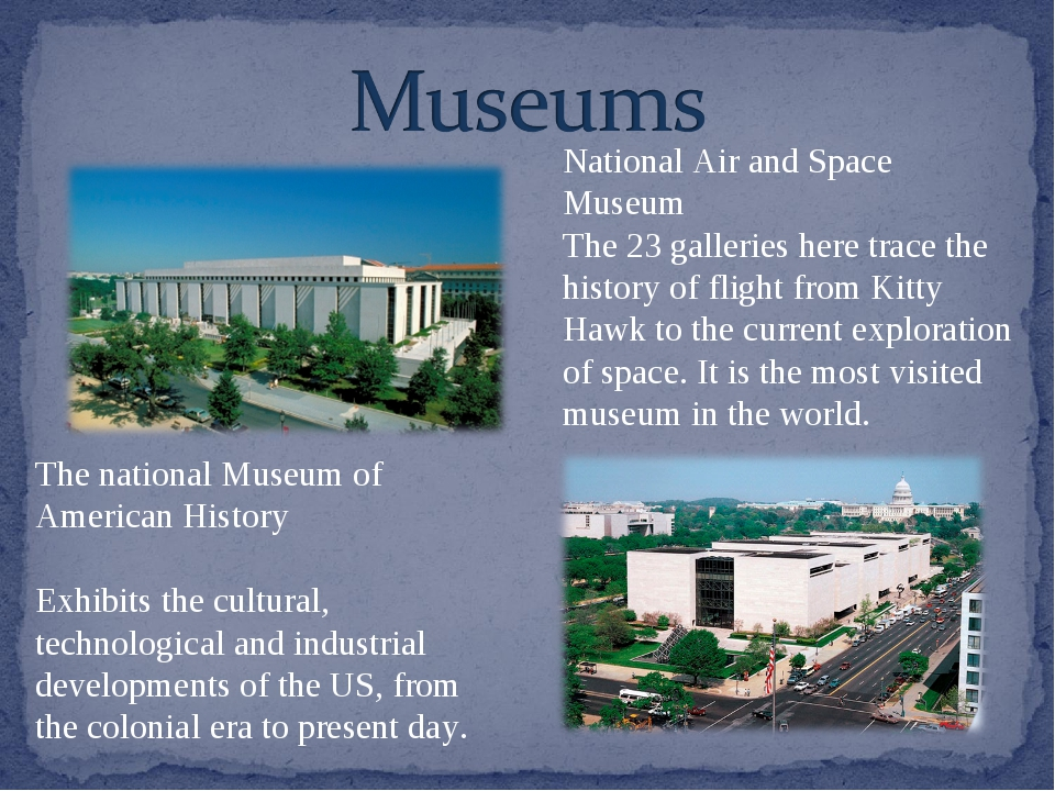 The national Museum of American History Exhibits the cultural, technological...