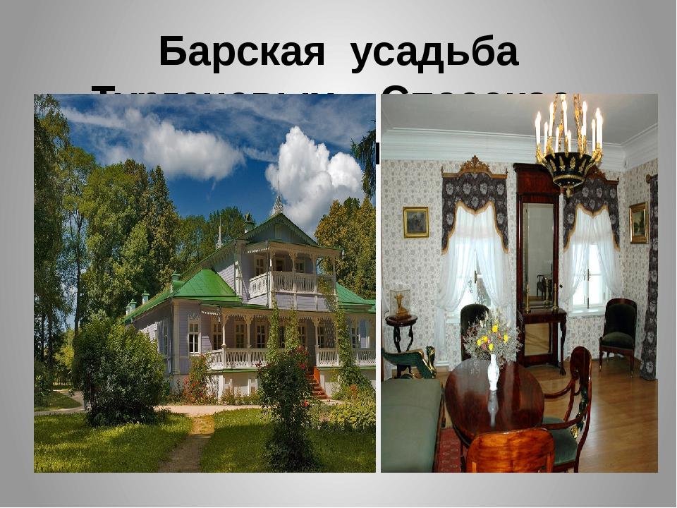 Барская усадьба Тургеневых – Спасское-Лутовиново.