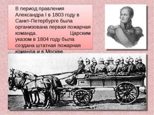 В период правления Александра I в 1803 году в Санкт-Петербурге была организо