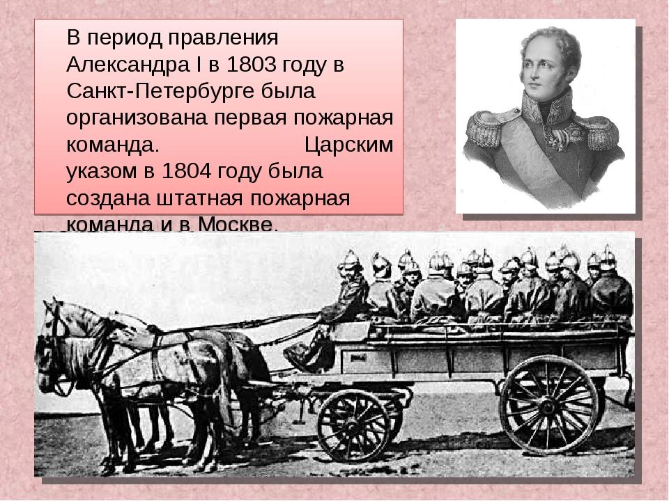 В период правления Александра I в 1803 году в Санкт-Петербурге была организо...