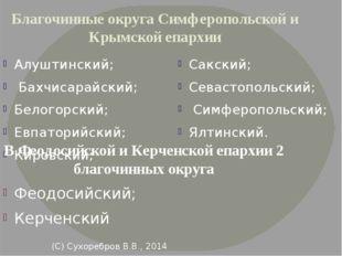 (С) Сухоребров В.В., 2014 Благочинные округа Симферопольской и Крымской епар