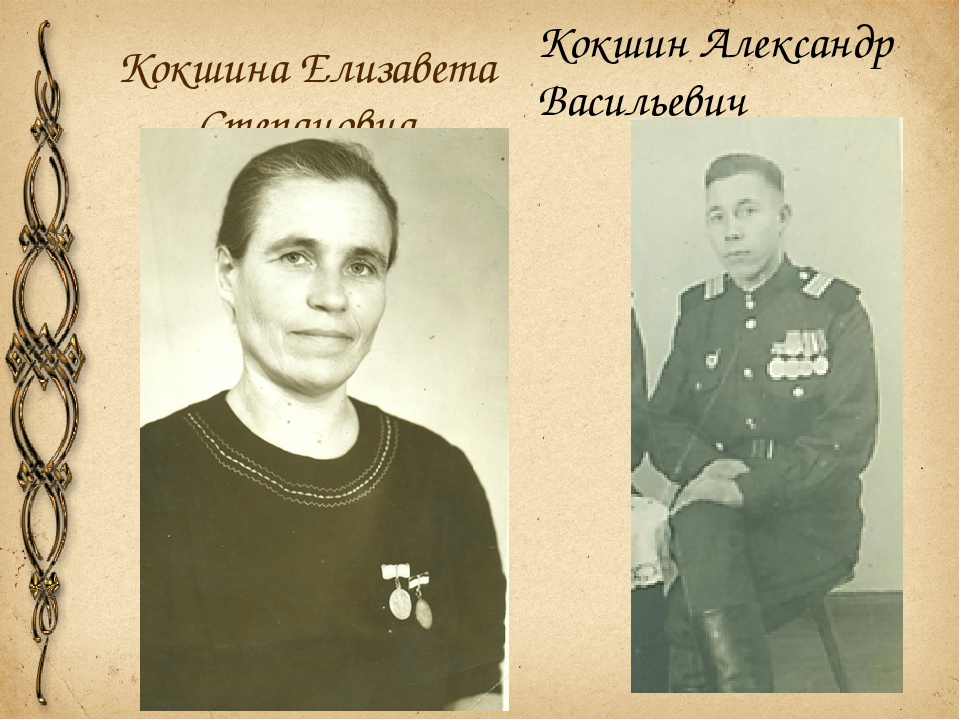 Кокшина Елизавета Степановна Кокшин Александр Васильевич