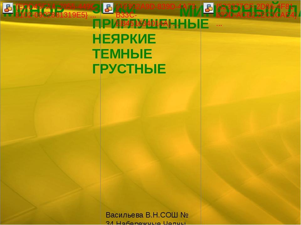 Васильева В.Н.СОШ № 34 Набережные Челны