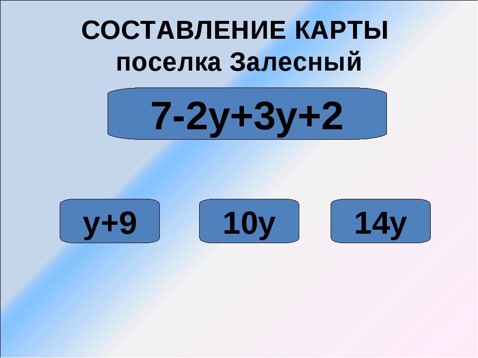 СОСТАВЛЕНИЕ КАРТЫ поселка Залесный 10у 14у 7-2у+3у+2 у+9