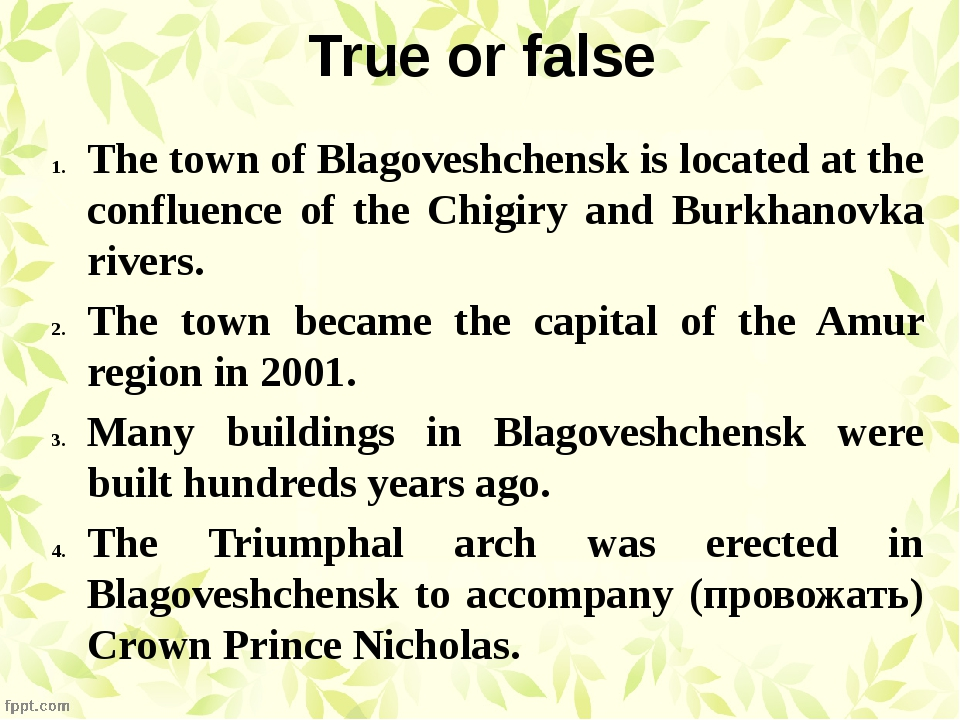 True or false The town of Blagoveshchensk is located at the confluence of the...