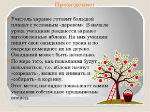 Проведение: Учитель заранее готовит большой плакат с условным «деревом». В на