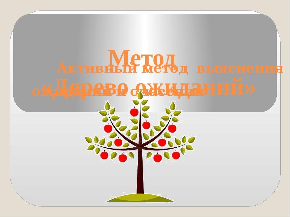 Метод «Дерево ожиданий» Активный метод выяснения ожиданий и опасений