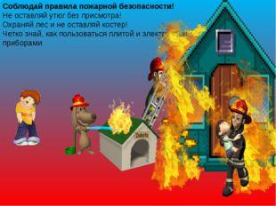 Соблюдай правила пожарной безопасности! Не оставляй утюг без присмотра! Охран
