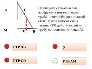 FТР·AB 0 FТР·CD FТР·AM На рисунке схематически изображена металлическая труб
