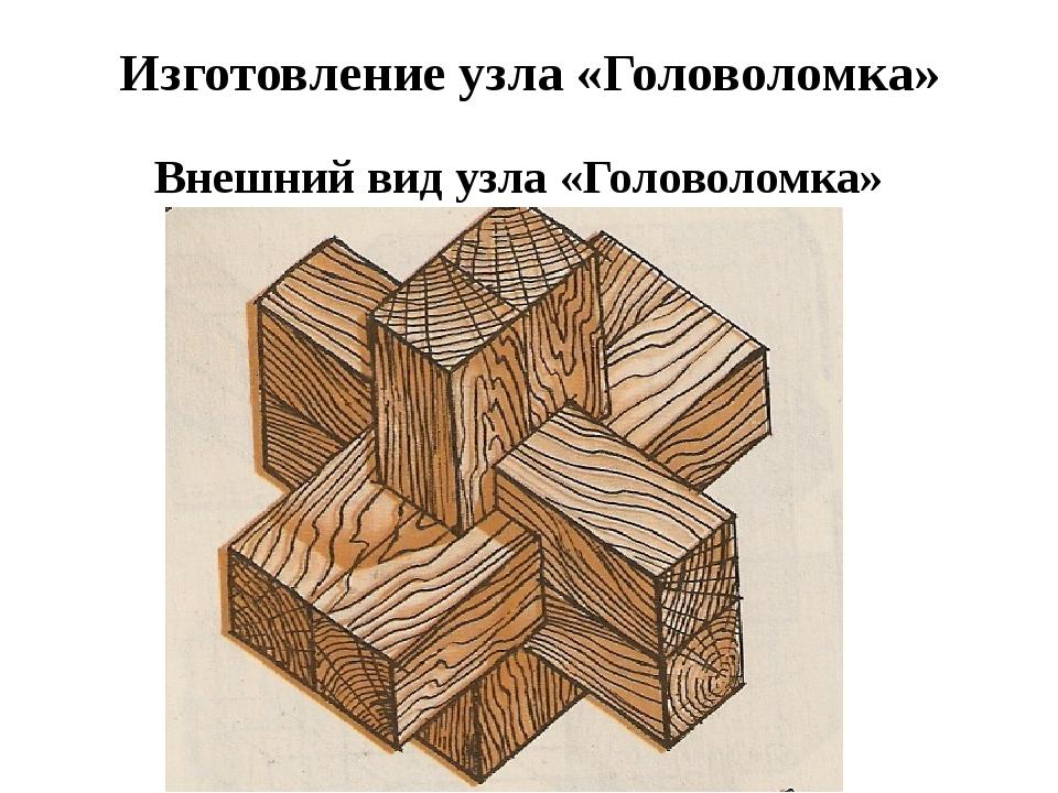 Изготовление узла «Головоломка» Внешний вид узла «Головоломка»