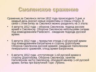 Сражение за Смоленск летом 1812 года происходило 3 дня, и каждый день вносил