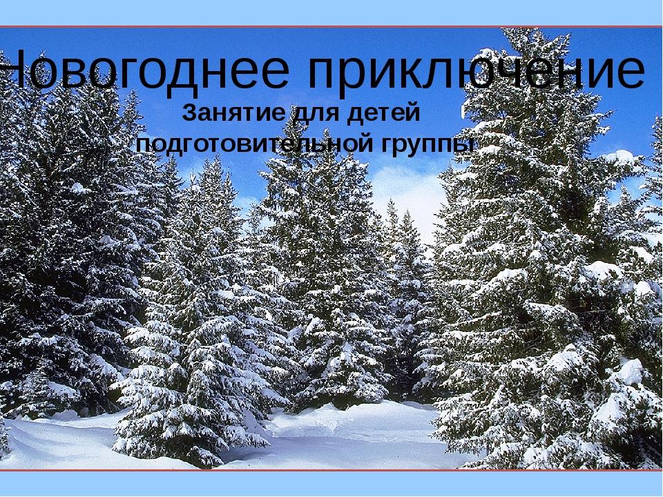 Новогоднее приключение . Занятие для детей подготовительной группы
