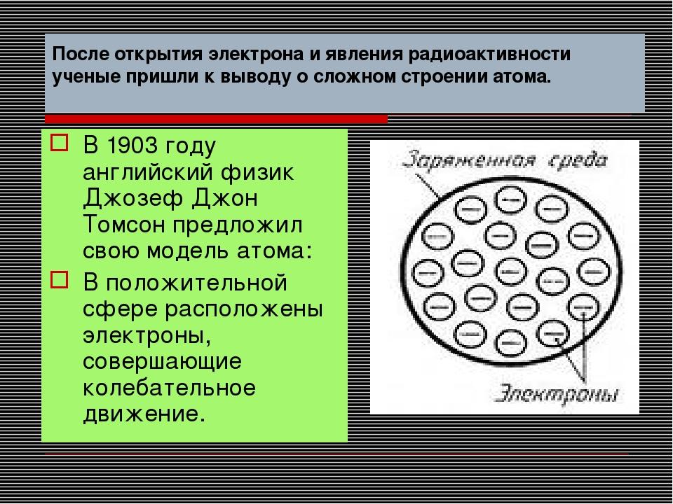 После открытия электрона и явления радиоактивности ученые пришли к выводу о с...