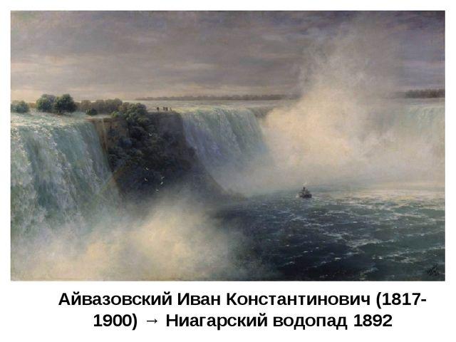 Айвазовский Иван Константинович (1817-1900) → Ниагарский водопад 1892