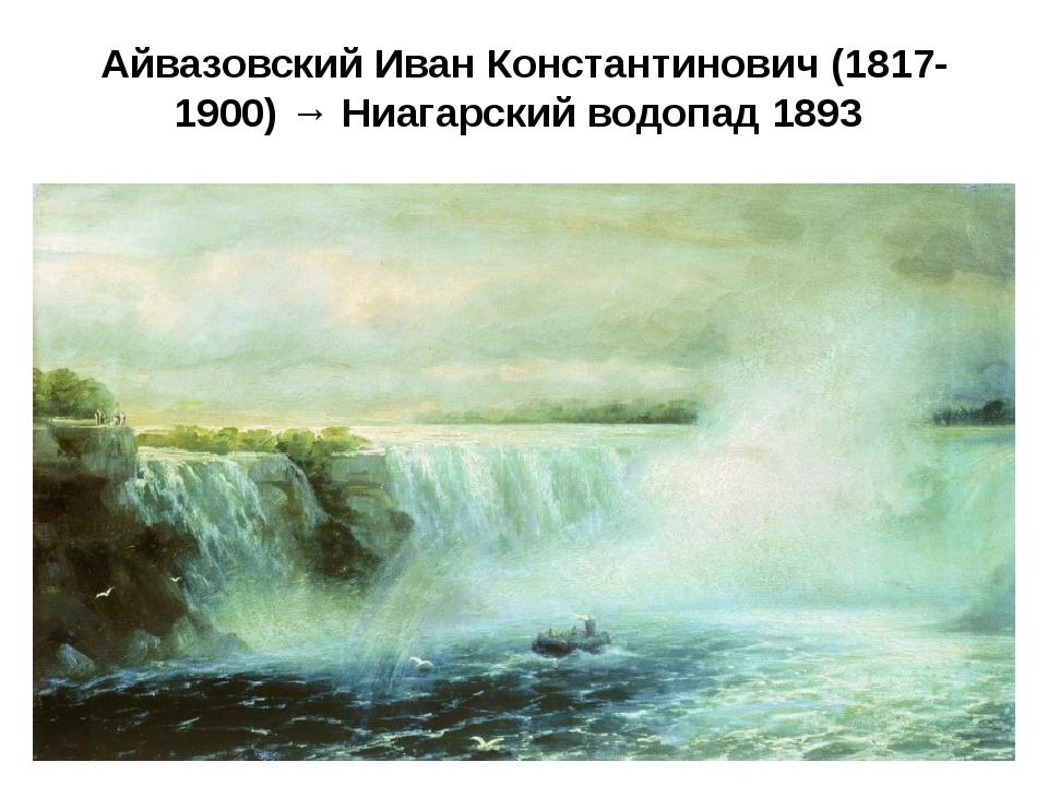 Айвазовский Иван Константинович (1817-1900) → Ниагарский водопад 1893