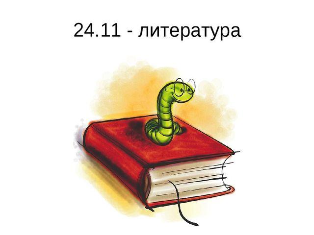 24.11 - литература