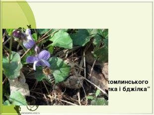 """Казка В.О.Сухомлинського """"Фіалка і бджілка"""" Підготувала: Вихователь I катего"""