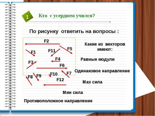По рисунку ответить на вопросы : F1 F2 F3 F5 F7 F9 F6 F12 F10 F8 F4 F11 Какие...