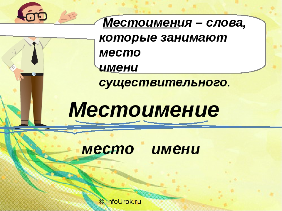© InfoUrok.ru Местоимение место имени Местоимения – слова, которые занимают м...