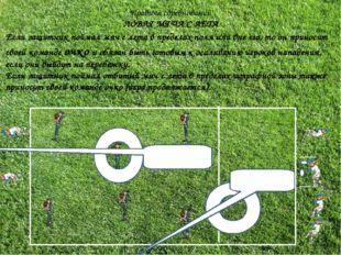Правила соревнований ЛОВЛЯ МЯЧА С ЛЕТА Если защитник поймал мяч с лета в пред