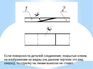 Если поверхности деталей соединения, покрытые клеем, на изображении не видны