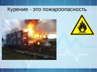 Курение - это пожароопасность