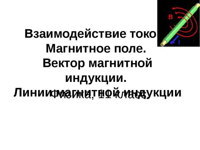 Взаимодействие токов. Магнитное поле. Вектор магнитной индукции. Линии магнит...