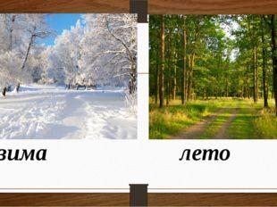 зима лето