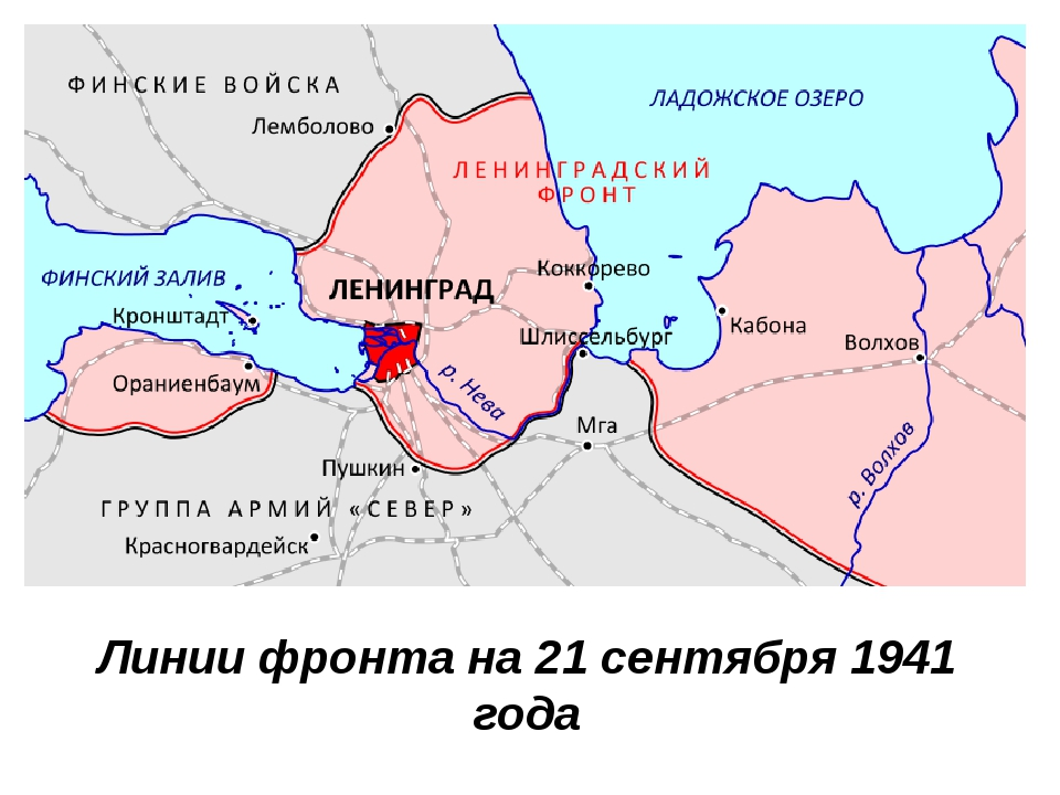 Линии фронта на 21 сентября 1941 года