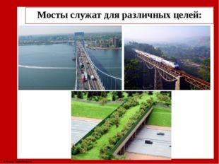 Мосты служат для различных целей: © Фокина Лидия Петровна