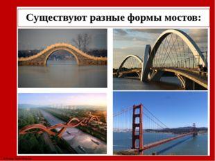 Существуют разные формы мостов: © Фокина Лидия Петровна