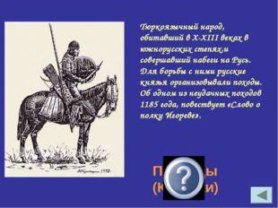 Тюркоязычный народ, обитавший в X-XIII веках в южнорусских степях,и совершавш