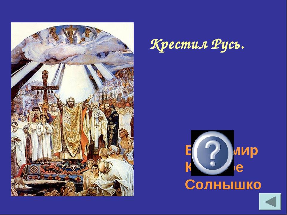 Крестил Русь. Владимир Красное Солнышко