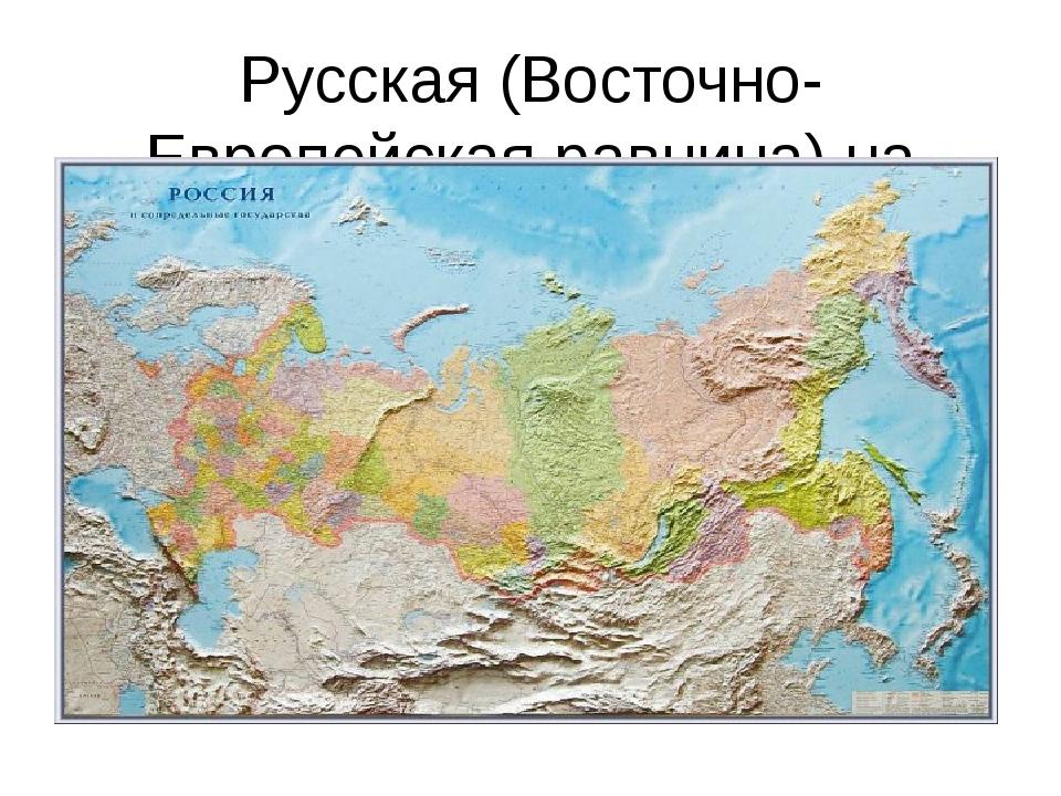 Русская (Восточно-Европейская равнина) на карте России