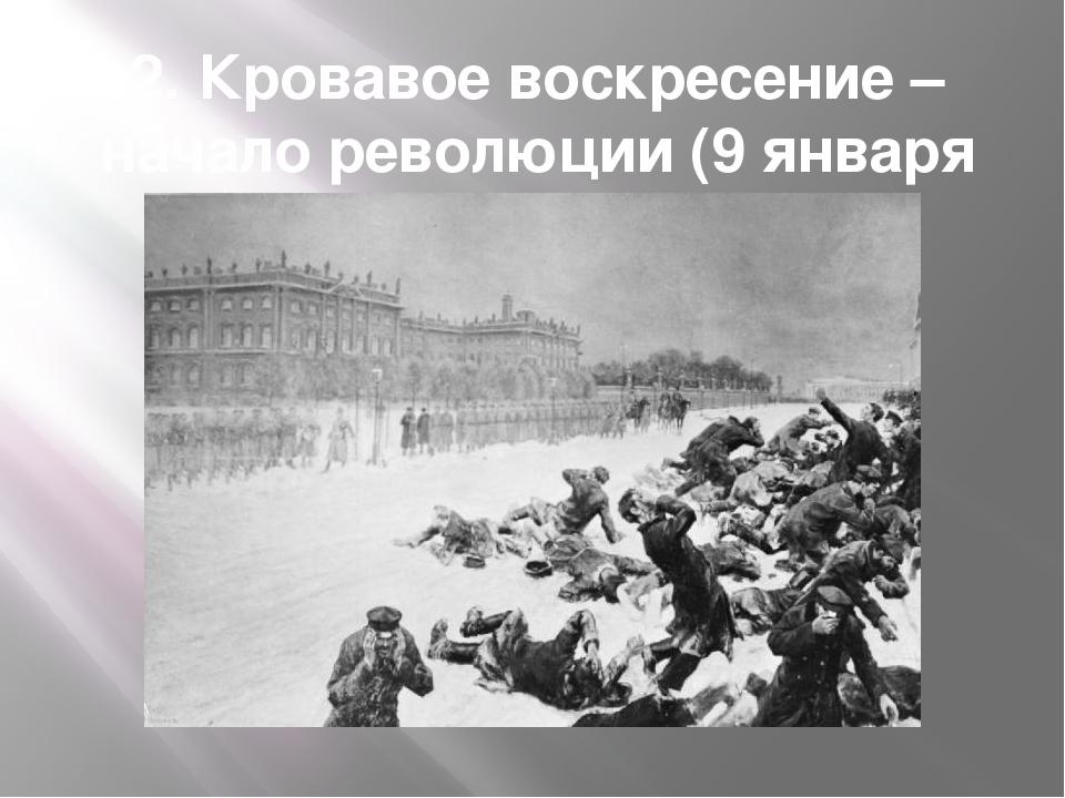 2. Кровавое воскресение – начало революции (9 января 1905 г.)