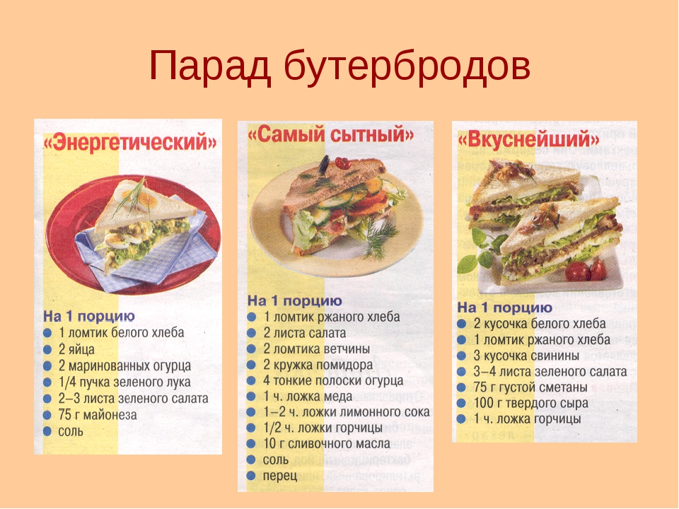 Парад бутербродов