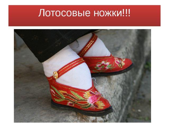 Лотосовые ножки!!!
