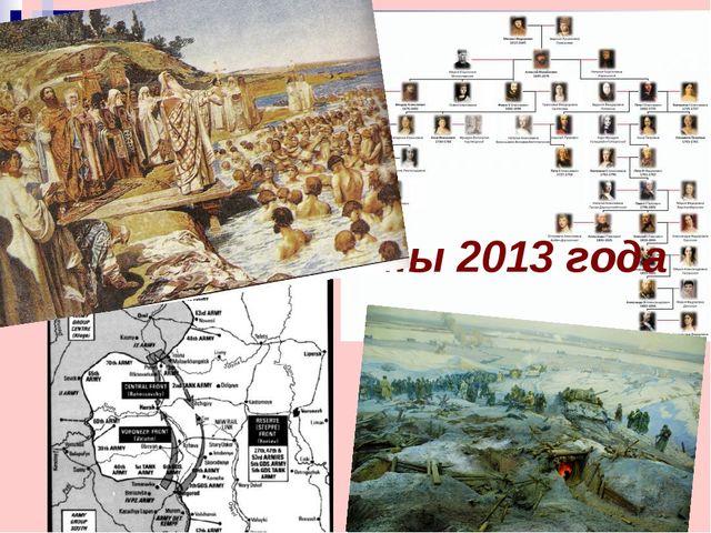 Юбилейные даты 2013 года