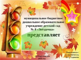 муниципальное бюджетное дошкольное образовательное учреждение детский сад № 8