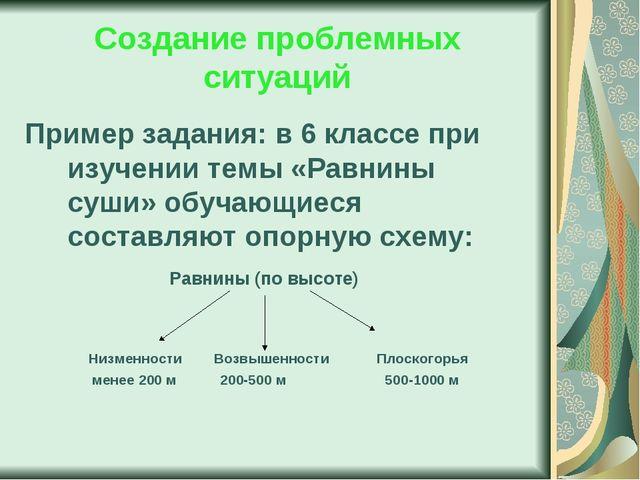Создание проблемных ситуаций Пример задания: в 6 классе при изучении темы «Ра...