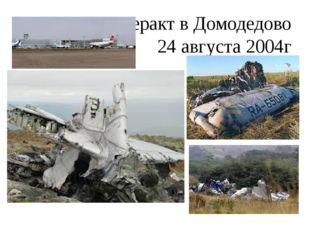 Теракт в Домодедово 24 августа 2004г