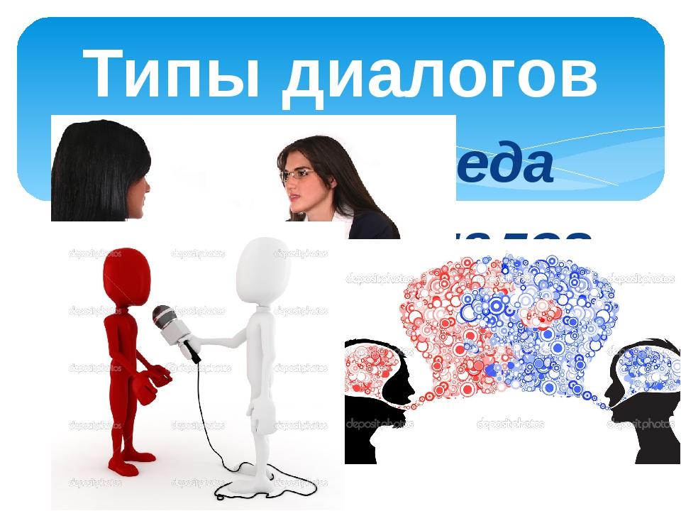 Деловая беседа Бытовой диалог Интервью Типы диалогов