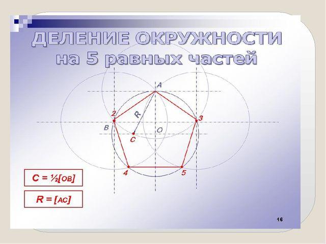 Задача: Используя изученные способы деления окружности построить ранее предло...