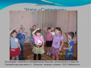 Занятие. Этюд «Снежинки» Путеводные снежинки и северный ветер помогают детям