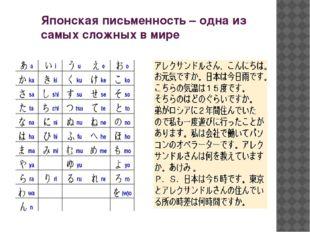 Японская письменность – одна из самых сложных в мире