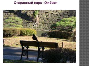 Старинный парк «Хибия»