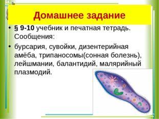 Домашнее задание § 9-10 учебник и печатная тетрадь. Сообщения: бурсария, суво